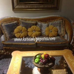 Sofa Tamu Royal Ukir Bunga Mawar